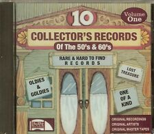 10 COLLECTOR'S RECORDS - OF THE 50'S & 60'S - VOL.1 -OLDIES & GOLDIES - CD - NEW
