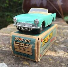 ORIGINAL, VINTAGE SPOT ON 191: SUNBEAM ALPINE CONVERTIBLE. VIRTUALLY MINT. BOXED