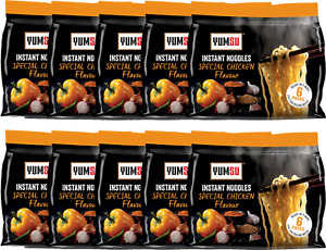 YUMSU Instant Special Chicken Noodles 70gr x 6 (1 pack) x 10  = 60 noodles box