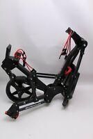 Fastfold Golftrolley Gestell faltbar elastische Gurte ohne Seitenräder schwarz
