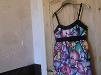 NEW With tags.River Island stunning floral dress.size 10.