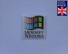 "Microsoft Windows 25 x 25mm 1"" Domed PC Case Badge Logo Decal 95 98 ME 2000"
