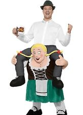Beer Maiden Costume Carry Me Ride On Oktoberfest St Patricks Buddy Mens Funny