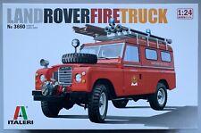 Italeri 3660 Land Rover Fire Truck 1/24 Model Kit NIB