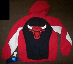 CHICAGO BULLS STARTER Hooded Parka Winter Jacket L, XL, 2X