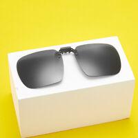 Clip On Flip Up Polarized Sunglasses Lens UV400 Driving Eyewear Spectacle Black