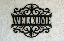 HAMPTON STYLE WELCOME SIGN BLACK CUT OUT NEW