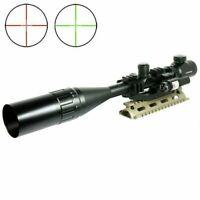 6-24x50 Tactical Rifle Scope R/G Mil-dot PEPR Mount + Sunshade + Laser Sight