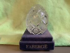 Faberge Authentic Signed & Numbered Fine Cut Crystal Egg #1142