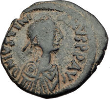 JUSTIANIAN I the GREAT 527AD Constantinople Follis Ancient Byzantine Coin i64831