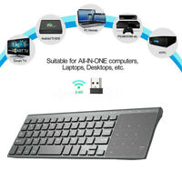 2.4G Mini Wireless Keyboard With Touch-pad Mouse For Android Smart TV Box PC #