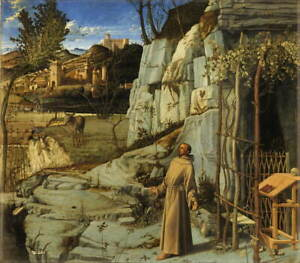 Giovanni Bellini Saint Francis in the Desert Poster Giclee Canvas Print