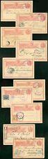 Guatemala 1891-1915 3c Quetzal overseas cards (x10)