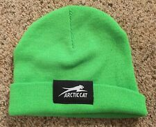 Arctic Cat Green Snowmobiling Warm Winter Beanie Hat Cap Youth / Ladies / Womens
