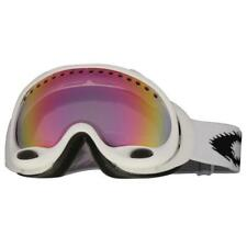 Oakley 25-376 A Frame Matte White VR50 Pink Iridium Lens Snow Ski Goggles .