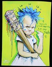 LORA ZOMBIE Just Stay Punk druck SIGNIERT + sticker banksy shepard fairey dface