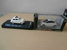 FIAT 500 NOREV JET-CAR 1/43E+SOLIDO FIAT 500 1957 1/43E