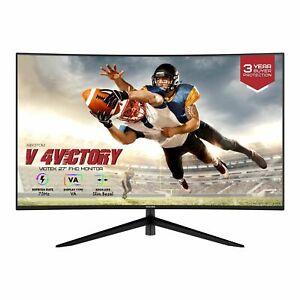 "VIOTEK 27"" Curved 75Hz Gaming Monitor FHD 1080p 4000:1 Speaker HDMI VGA NBV27CB2"