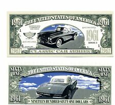 CORVET  1961 Classic car  DOLLAR  BILL