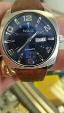 BRAND NEW SEIKO MEN 21 AUTOMATIC MEN  WATCH. RECRAFT-SERIES.LEATHER BRACELET.