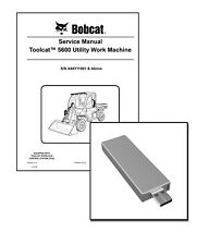 Bobcat Toolcat 5600 Utility Work Machine Workshop Service Manual USB Stick + DL