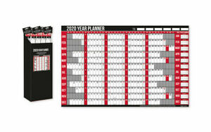 2020 Year Wall Planner Holiday Planner Including Pen and Stickers Office or Home