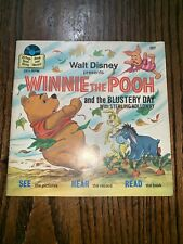Walt Disney Presents Winnie The Pooh & The Blustery Day Book & Record 33 1/3 rpm