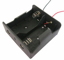 1PC 2 x D Size Cell Battery Batteries Holder Box 3V DC Case With Wire Lead