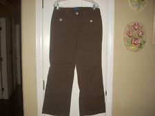 Ladies Size 10 High Sierra Slacks Jeans In Brown Color With Flare