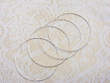 Four Silvertone or Goldtone Rings: Bobbin Lace, Tatted Lace Christmas Ornaments