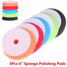 "Car 5Pcs 6""Sponge Polishing Waxing Buffing Polishing Pads Polisher Pad Care Tool"