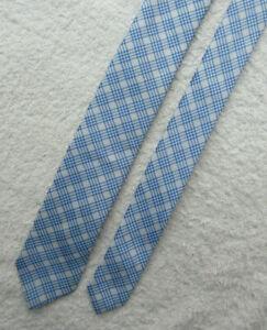BLUE WHITE SKINNY SLIM 2.25 INCH polyester TIE necktie by RIVER ISLAND