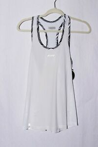 NWT Zoot Women's Chill Out Singlet White Reflective Cycling size L #C252