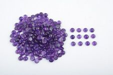 Natural Amethyst 7mm Round Cabochon 25 Pieces Top Quality Loose Gemstone Lot UK