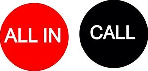 All In / Call 3 Inch Poker Button USA Seller Free Shipping