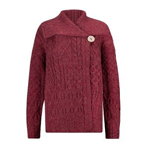 Wool Aran Cardigan,100% British Wool. Manufactured in the UK. Factory Shop!