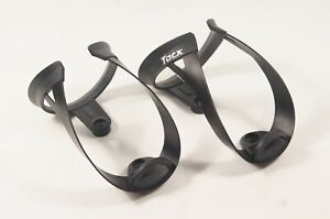 Pair (2) Tacx Black Alloy Road Bike Wattle Bottle Cages / Holders