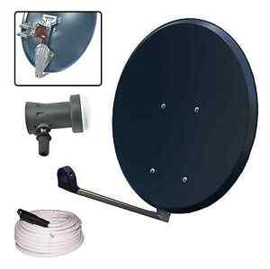 SAT-Klappantenne Off-Set 65/70CC anthrazit Dig. Profi Single LNB 0,1db 3D HDTV