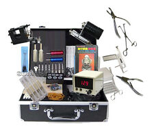 new Complete Tattoo Equipment Machine Tools with Body jewellery Piercing kit