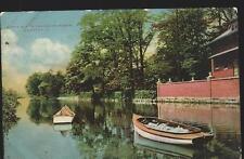 1909 Scene Along The Water Power Delaware River Trenton New Jersey Postcard
