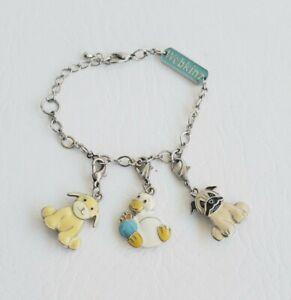 Webkinz Charm Bracelet and 3 Enamel Charms