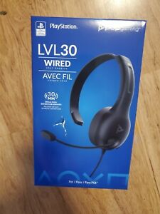 PDP Gaming LVL30 Wired Chat Headset for PlayStation 4 NEW damaged Box
