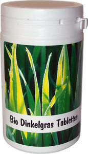 SANOS  Bio Dinkelgras Tabletten, 200g /500 Tbl. aus eigenem Anbau vom Bodensee