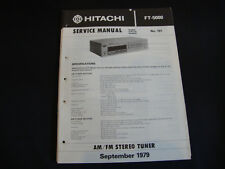 Original Service Manual Hitachi FT-5000