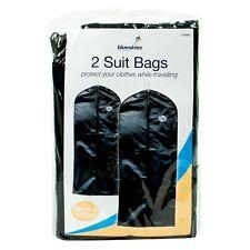 2 Dress Bags Suit Cover Garment Travel Dress Coat Top Carrier Hanging Suit Bag