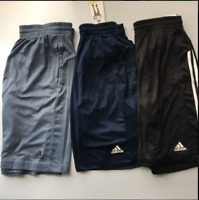 ADIDAS Men Designed to Move 3Stripe Zip Shorts Conavy-Rawste-Black M,LXL,XXL NWT