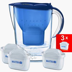 BRITA MARELLA WASSERFILTER 2,4L Kanne inkl 3x Maxtra Filterkartusche Filter blau