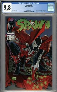 Spawn #8 CGC 9.8 NM/MT Spider-Man #1 Cover Homage WHITE PAGES