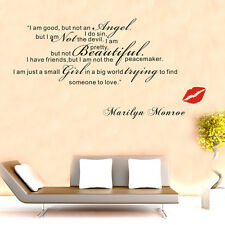 Niña Encontrar Someone Para amor-Marilyn Monroe Frase Arte Adhesivo De Pared