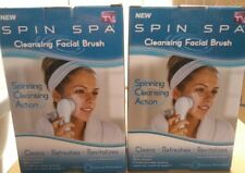 Spin Spa Spinning Cleansing Facial Brush Cleanse Refresh  Lot Of 2